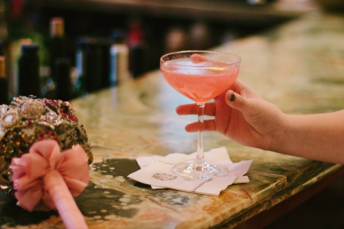 Every bride needs to drink a pink Cosmo at the Plaza before they get married.